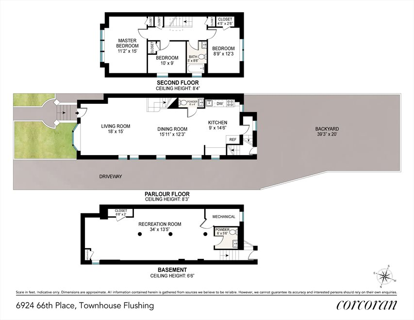 New York City Real Estate | View 69-24 66th Place | Floorplan