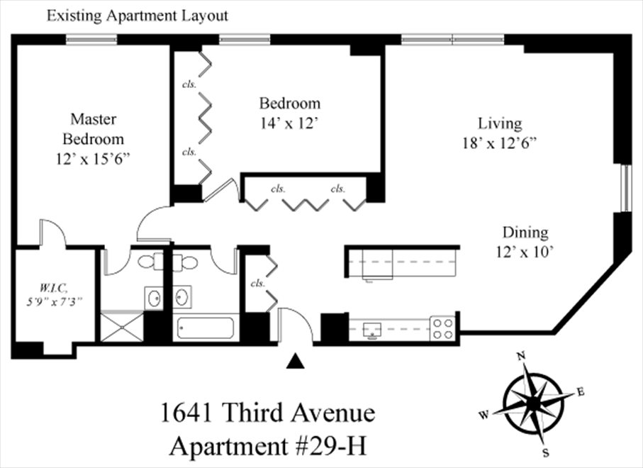 New York City Real Estate | View 1641 Third Avenue, #29H | Floorplan