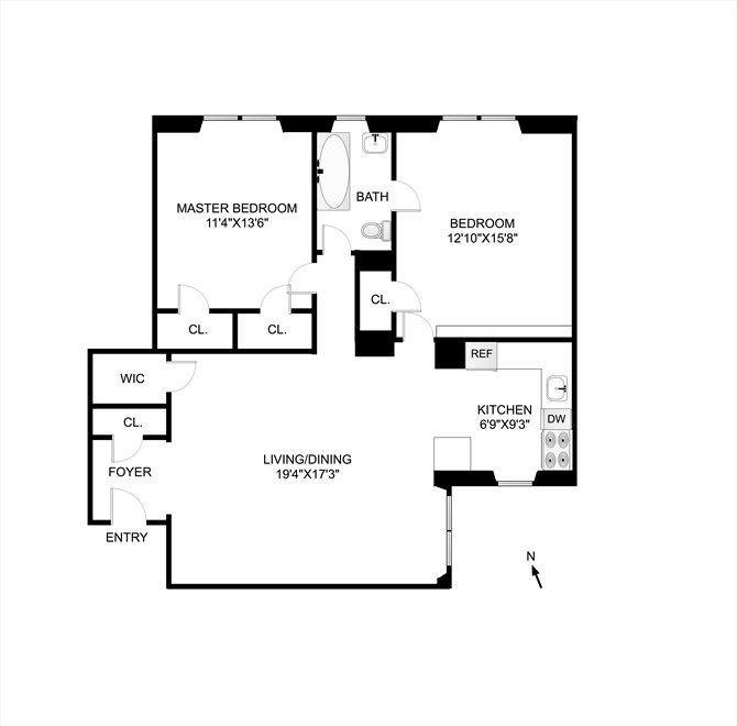 New York City Real Estate | View 38 Livingston Street, #62 | Floorplan