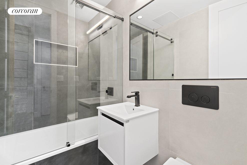 Large, zen bathrooms!