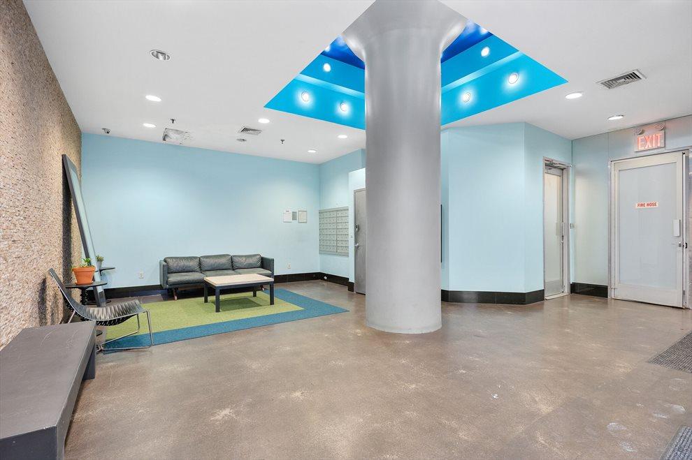 Industrial loft lobby