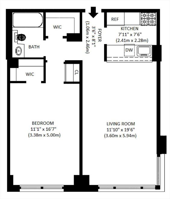 New York City Real Estate | View 350 West 50th Street, #5U | Floorplan