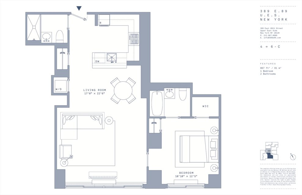 New York City Real Estate | View 389 East 89th Street, #4C | Floorplan