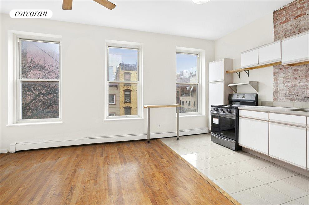 New York City Real Estate | View 647 Myrtle Avenue, #3 FL | Living and Dining Area