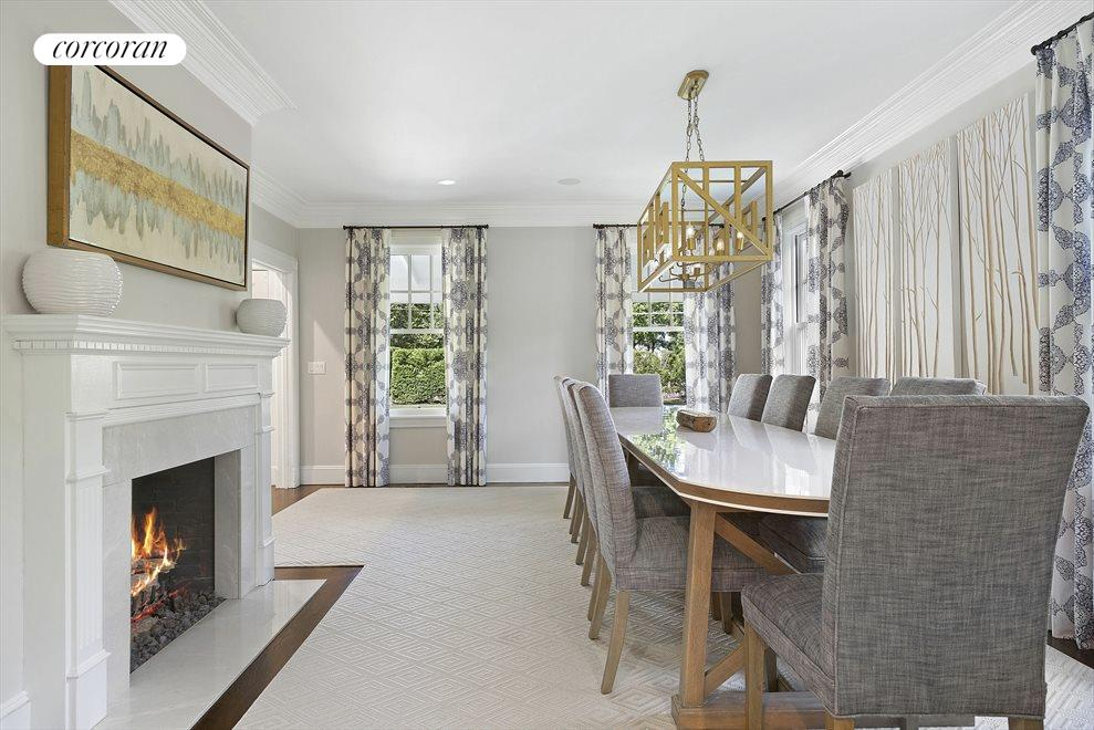 Formal Dining Room with Gas Fireplace