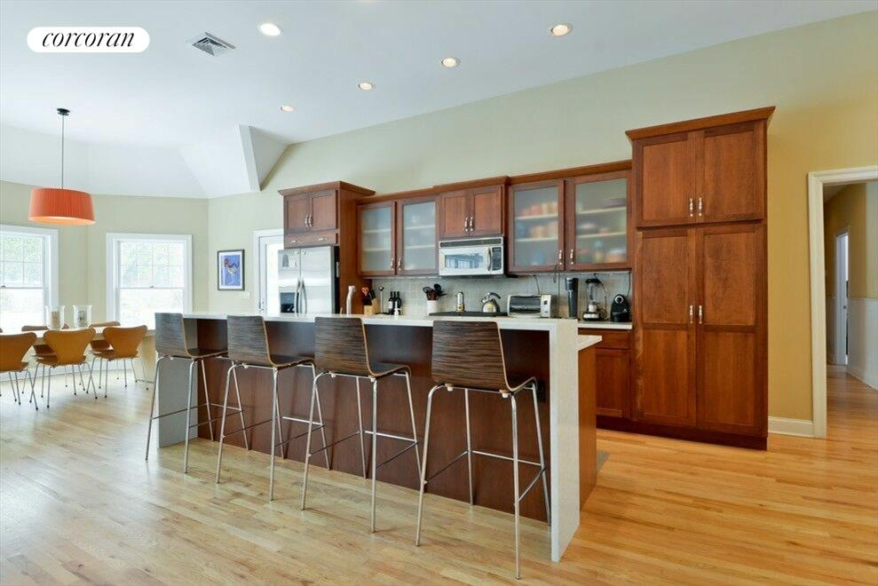 Open kitchen with professional appliances