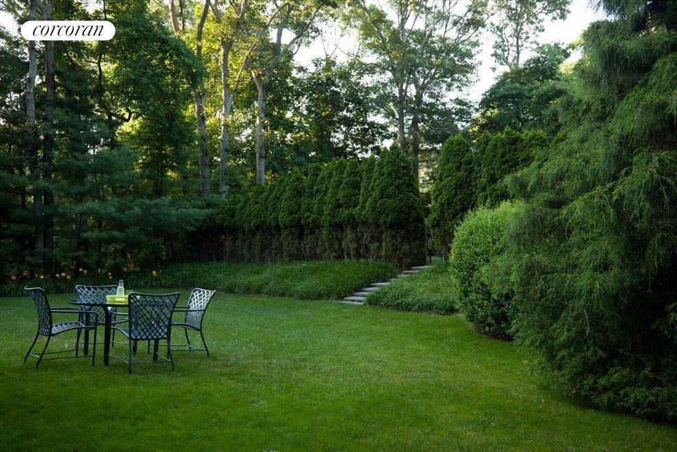 Spacious lawn
