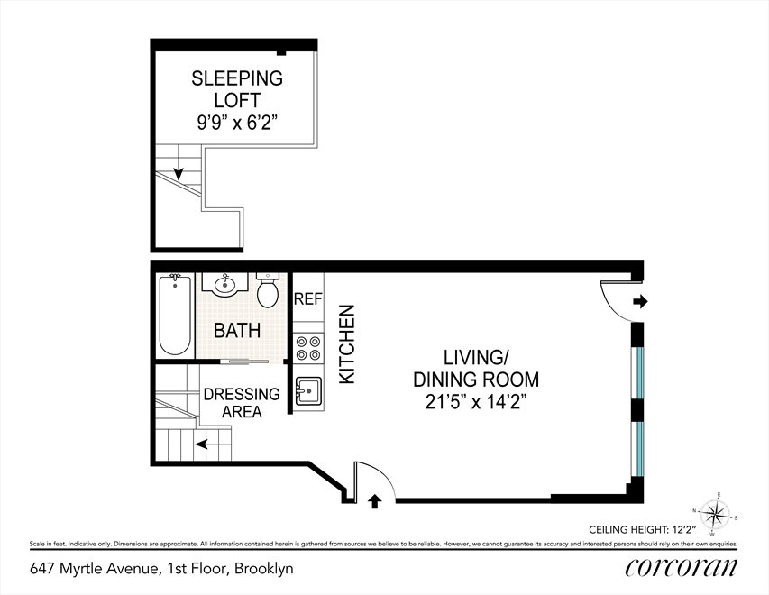 New York City Real Estate | View 647 Myrtle Avenue, #1 FL | Floorplan