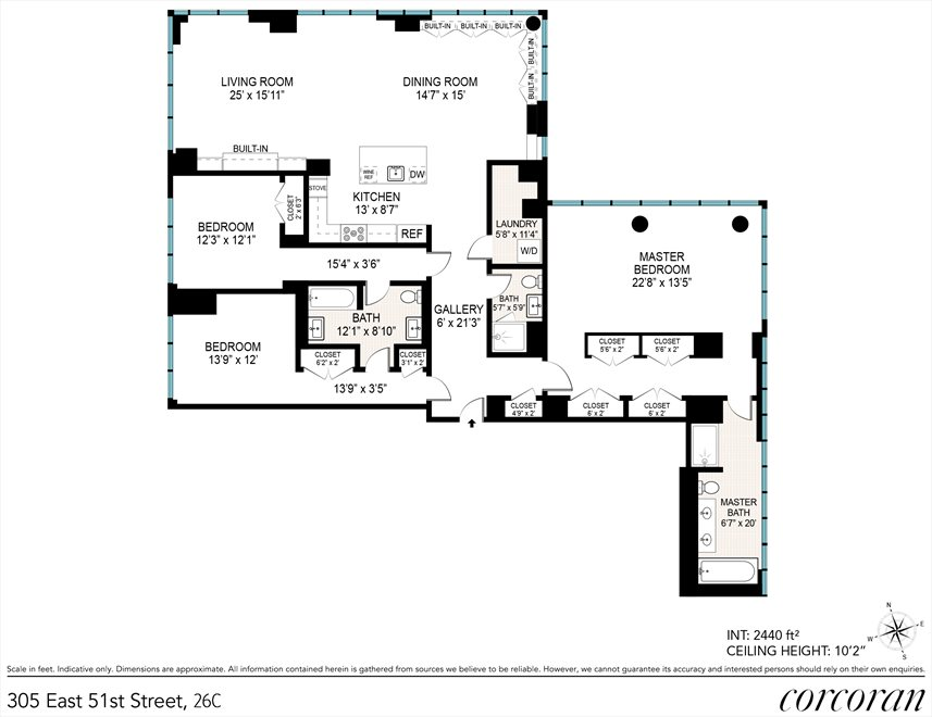 New York City Real Estate | View 305 East 51st Street, #26C | Floorplan