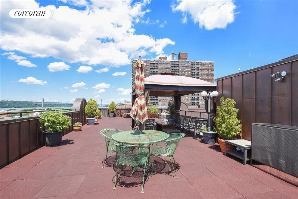 Enjoy the views from the common rooftop