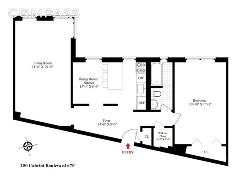 New York City Real Estate | View Cabrini Boulevard | Floorplan 1