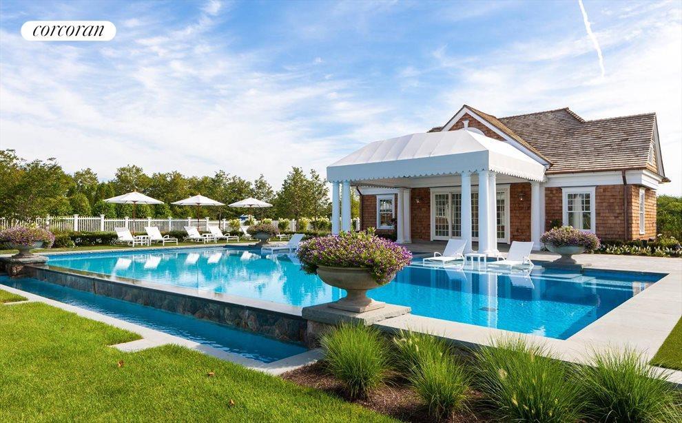 gunite pool and pool house