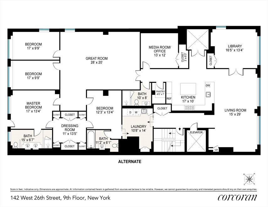 New York City Real Estate | View 142 West 26th Street, #9 FL | Floorplan 2