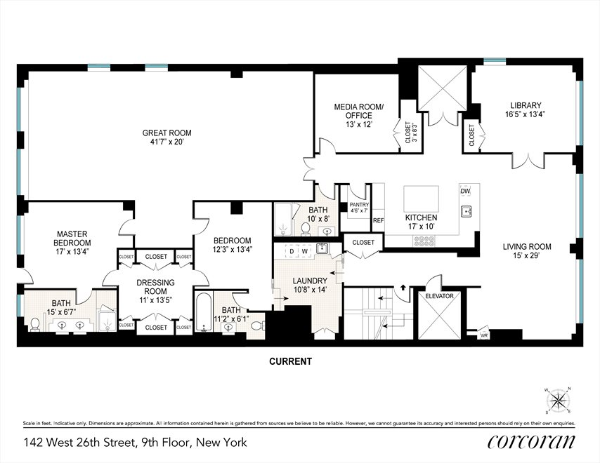 New York City Real Estate | View 142 West 26th Street, #9 FL | Floorplan 1