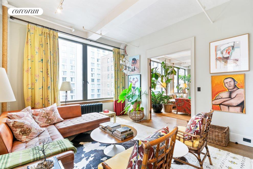 New York City Real Estate | View 142 West 26th Street, #9 FL | Library/3 bedroom