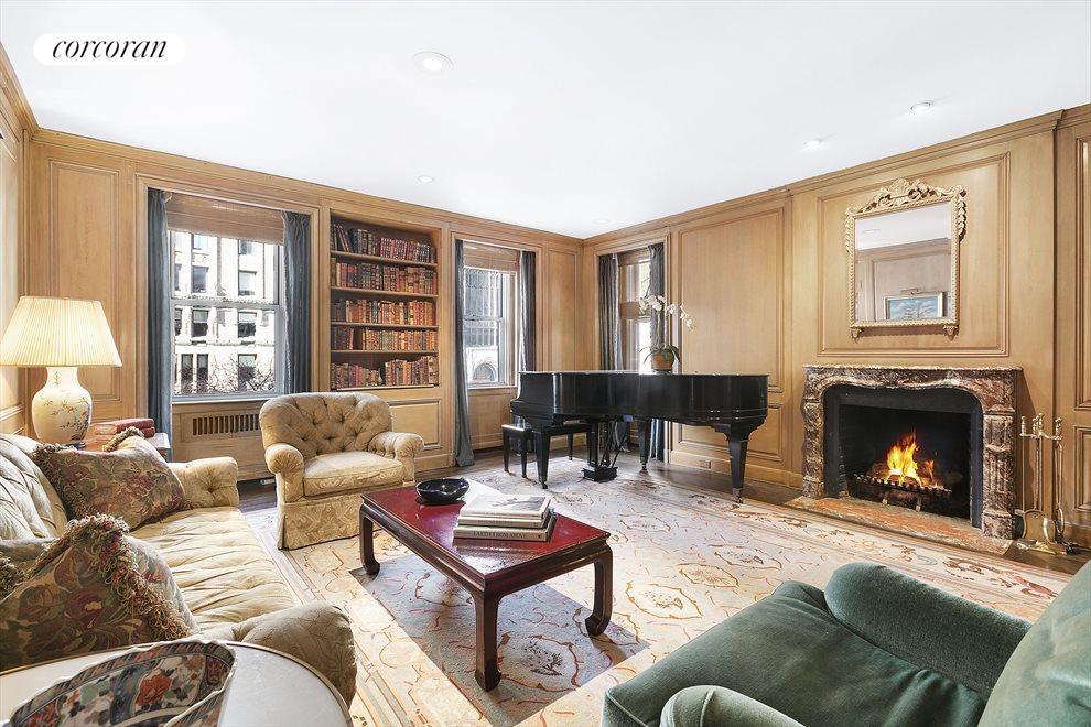 Corner Living Room on Park Avenue w/WBFP