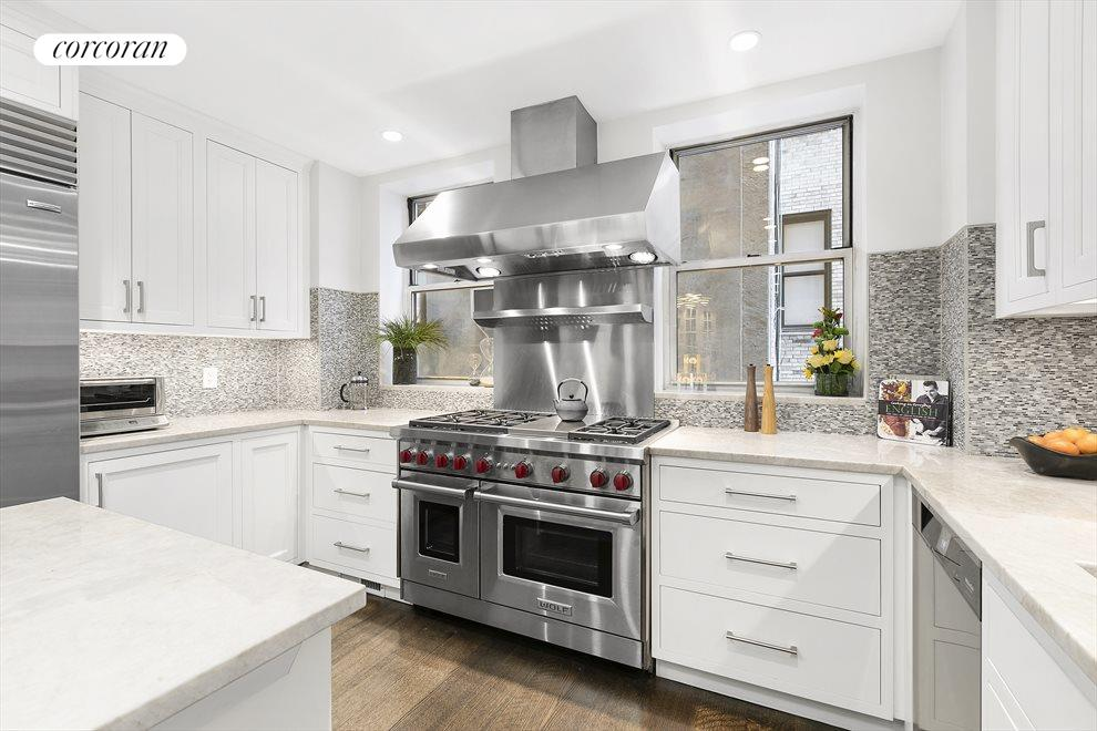 Windowed chef's Kitchen, Top of the Line Materials