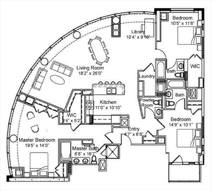 New York City Real Estate | View 250 East 49th Street, #18CD | Floorplan