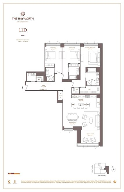 New York City Real Estate | View 1289 Lexington Avenue, #11D | Floorplan