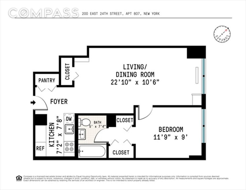 New York City Real Estate | View East 24th Street | Floorplan