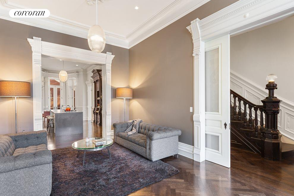 Stunning archways with classic pocket doors