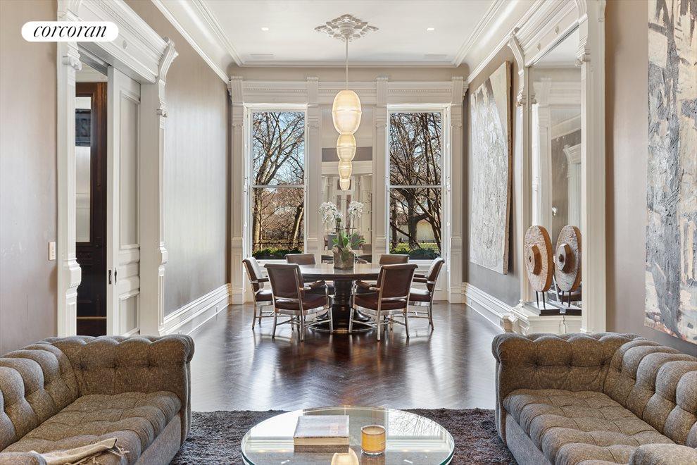 "Inspiring parlor floor with 12'8"" ceilings"
