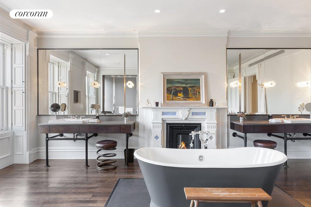 Height of luxury in master baths with park view