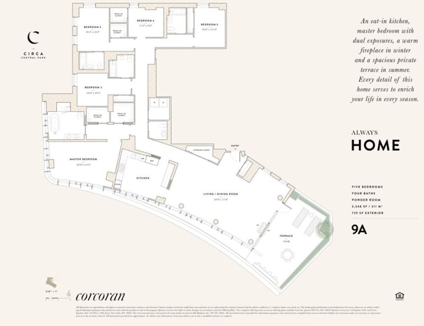 New York City Real Estate | View 285 West 110th Street, #9A | Floorplan