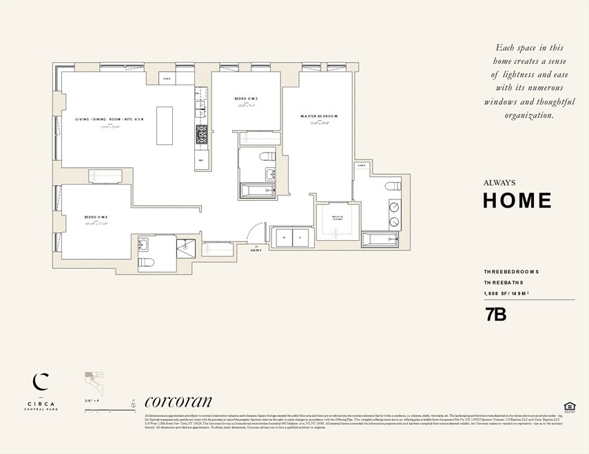 New York City Real Estate | View 285 West 110th Street, #7B | Floorplan