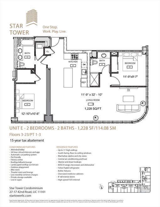 New York City Real Estate | View 27-17 42nd Road, #11E | Floorplan