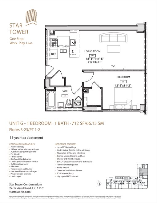 New York City Real Estate | View 27-17 42nd Road, #11G | Floorplan