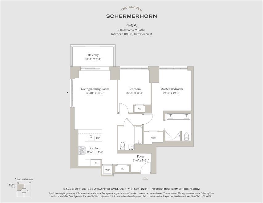 New York City Real Estate | View 211 Schermerhorn Street, #4A | Floorplan
