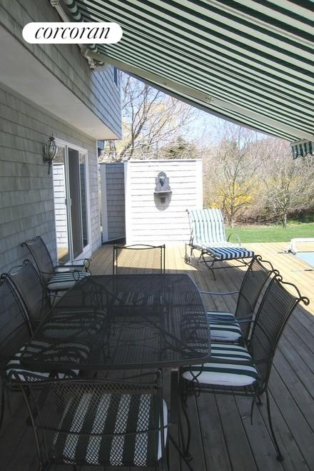 Sun protected porch-your choice!