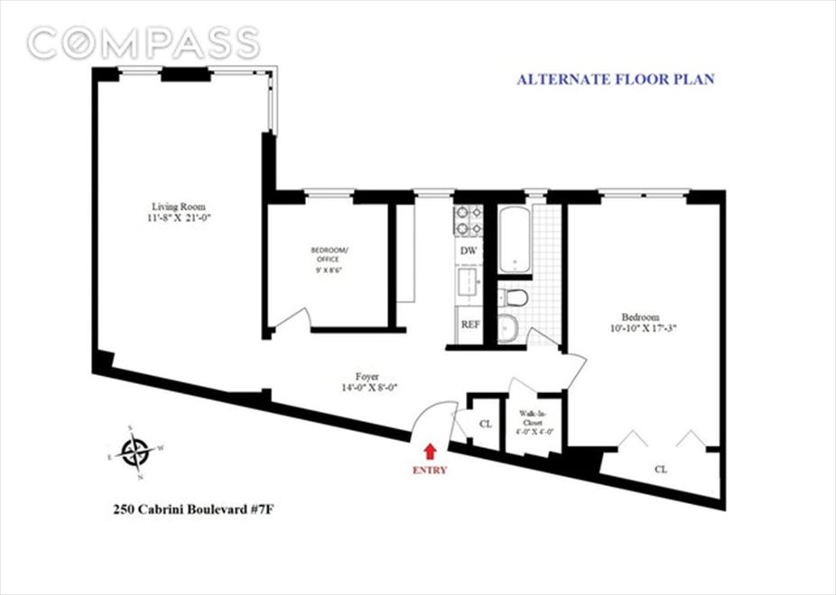New York City Real Estate | View Cabrini Boulevard | Floorplan 2