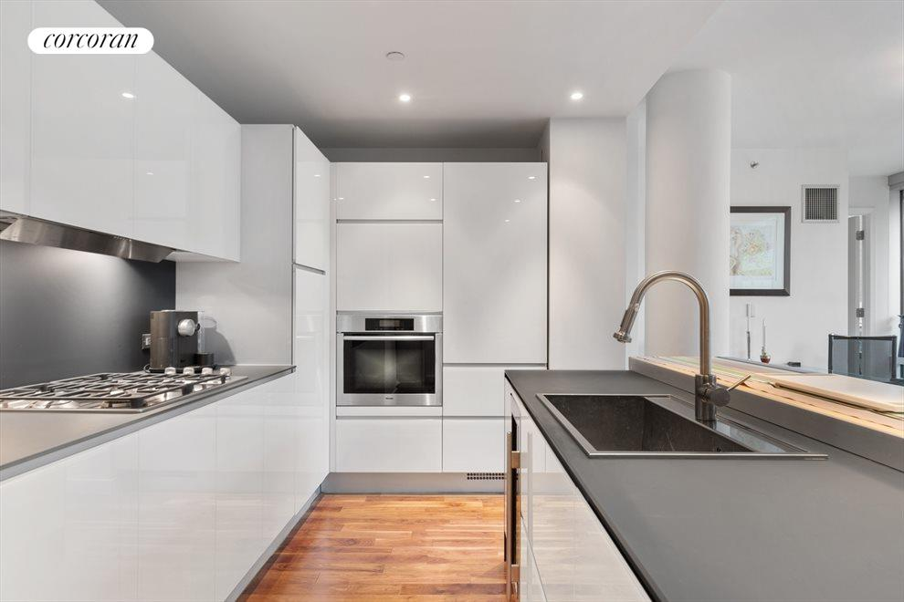 Open Chef's kitchen with top-of-line appliances