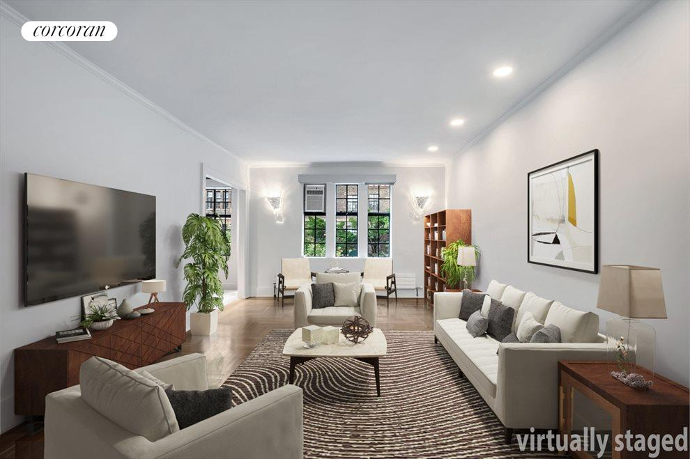 New York City Real Estate | View 116 PINEHURST AVE, #R41 | Spacious living room
