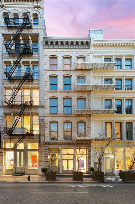 Cast iron original SoHo loft building