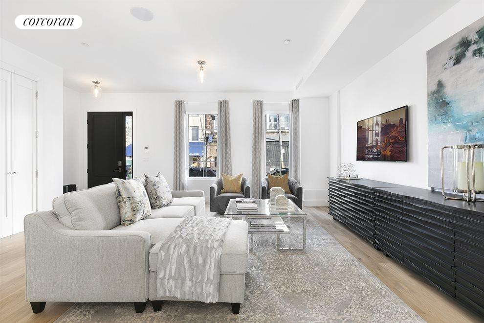 Space for a huge sectional couch!