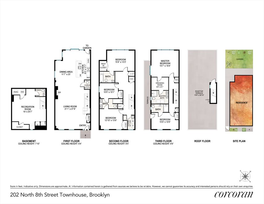 New York City Real Estate | View 202 North 8th Street | Floorplan
