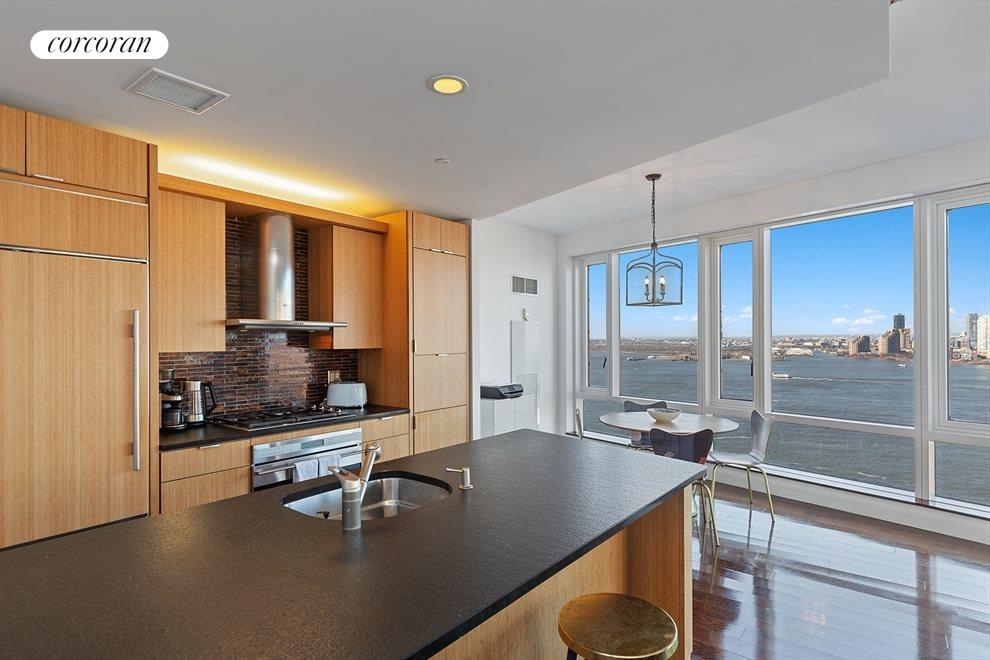Open Chef's Kitchen with Direct River Views