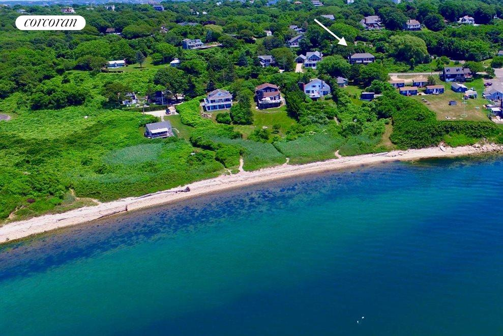 The Hamptons Real Estate | View 75 Firestone Road | aerial photo