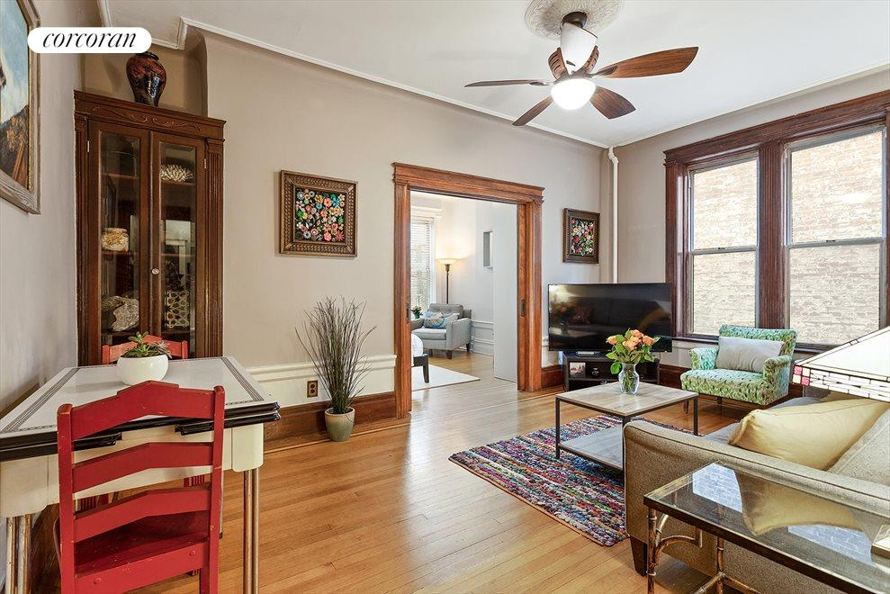 living/dining room leads to master bedroom