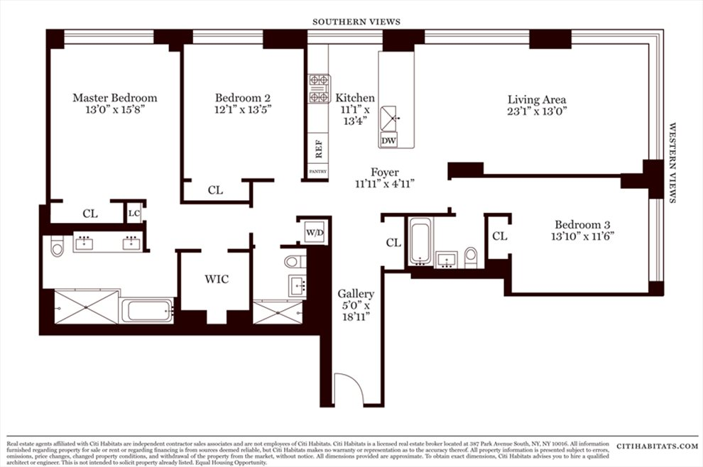 New York City Real Estate | View 1280 Fifth Avenue, #17B | Floorplan