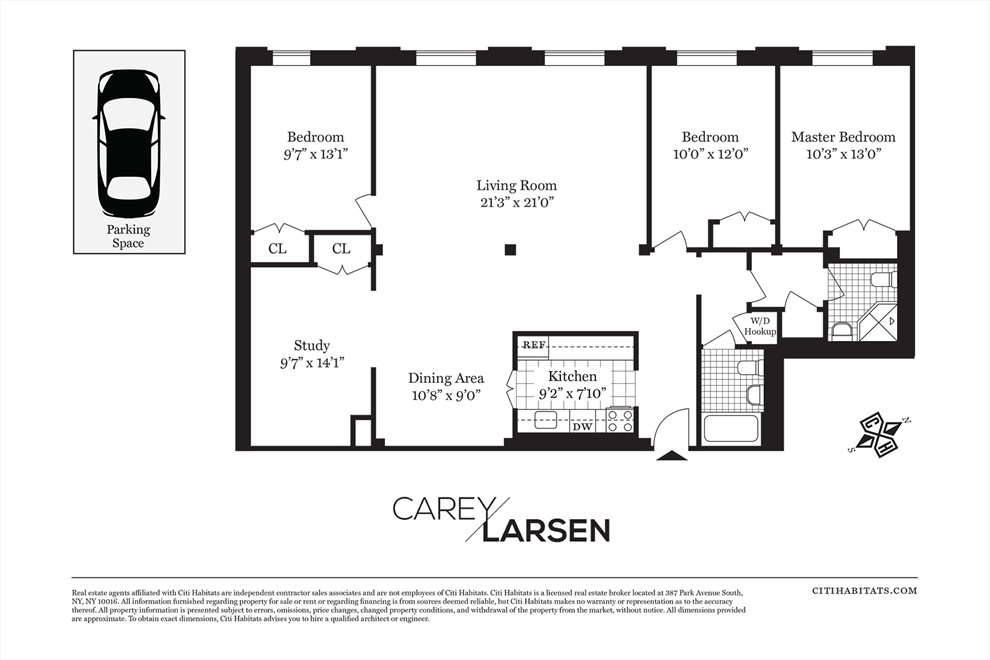 New York City Real Estate | View 29 Tiffany Place, #3G | Floorplan