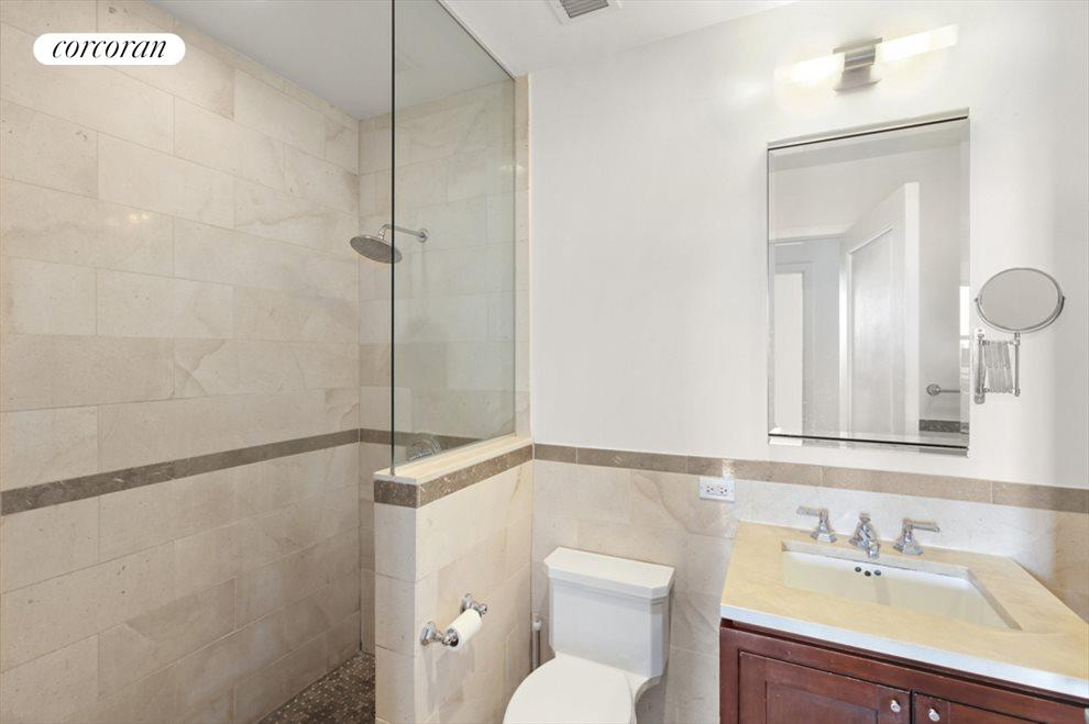 Rainfall shower room and deep soaking tub