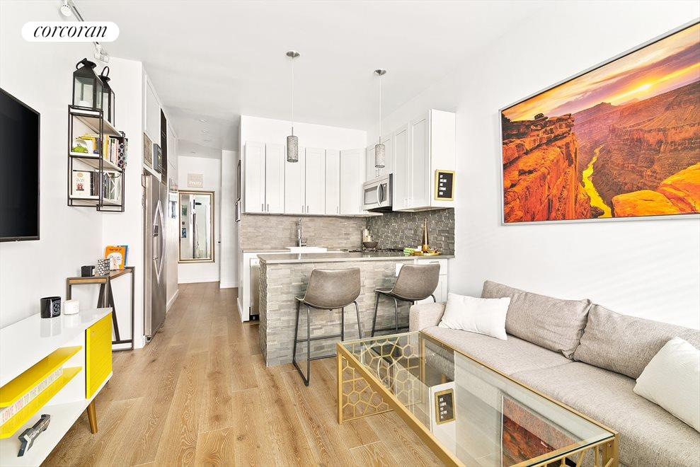 Move-in ready, renovated studio with high ceilings