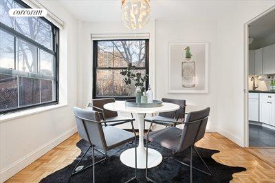 New York City Real Estate | View 325 Clinton Avenue, #2A | Corner Dining