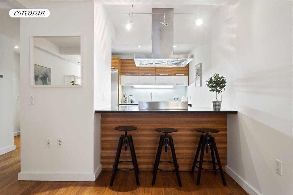 Stylish, Open Kitchen with Breakfast Bar
