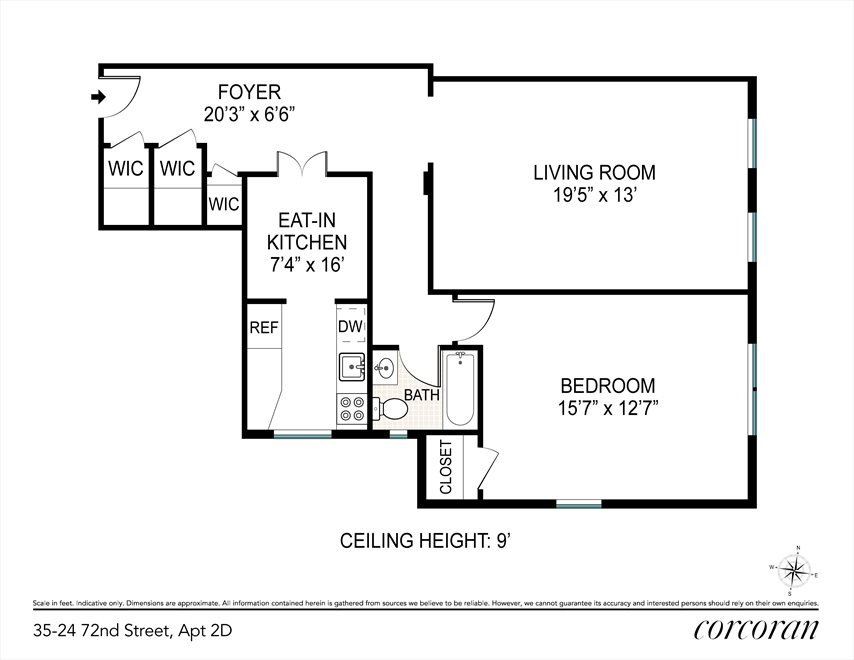 New York City Real Estate | View 35-24 72nd Street, #2D | Floorplan