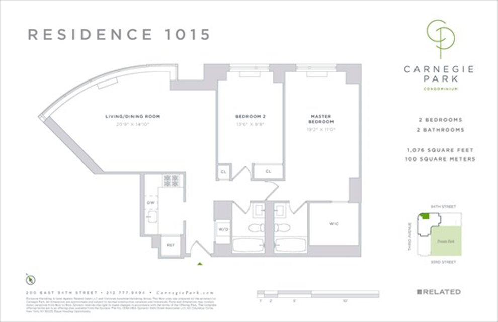 New York City Real Estate | View 200 East 94th Street, #1015 | Floorplan
